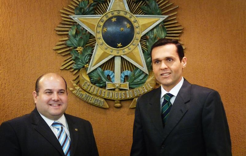 Secretário da Seplag visita o Presidente da Assembleia