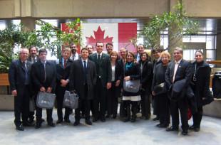 Os componentes da comitiva do Consad no Service Canadá