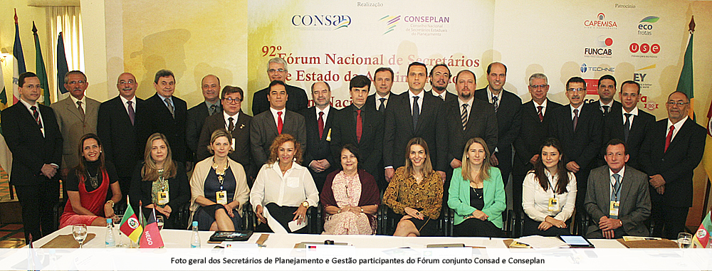 1 - foto geral dos secretrios de planejamento e gesto participantes do frum conjunto consad e conseplan