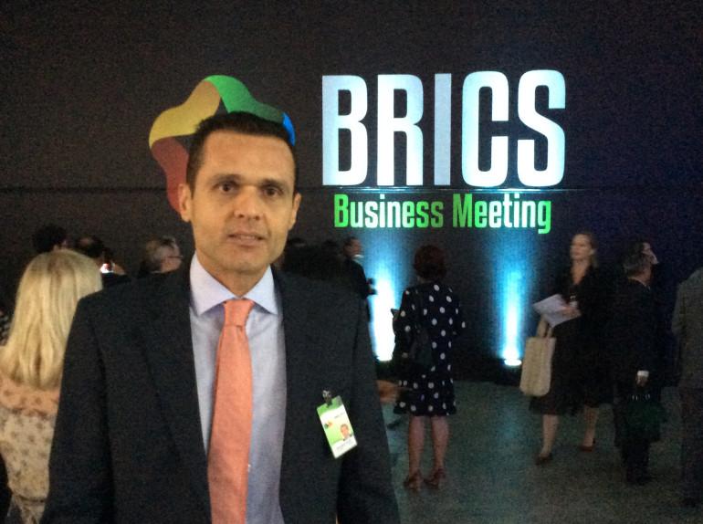 Secretário Eduardo Diogo na reunião do BRICS