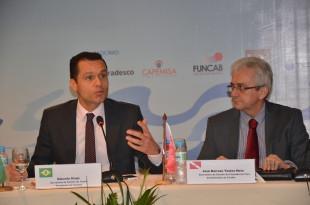 O presidente do Consad e Secretário da SEPLAG/CE, Eduardo Diogo, e o coordenador do Confaz e Secretário da Fazenda do Pará, José Tostes