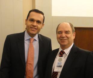 Os presidentes do Consad, Eduardo Diogo, e do Conseplan, Arnaldo Souza, no Ciclo de Debates sobre Relações Público Privadas em Brasília