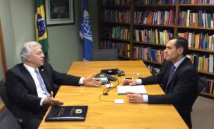 Secretário Eduardo Diogo participa de reunião com Boris Utria, coordenador geral de Operações do Banco Mundial no Brasil