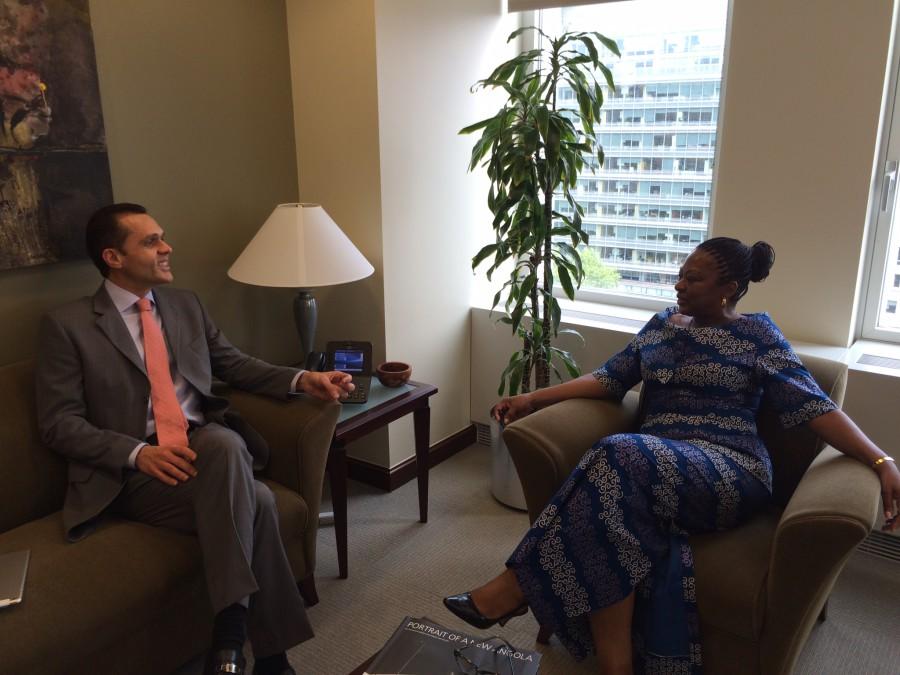 Foto 5. Renião com a ex-Ministra de Planejamento de Angola, Ana Dias Lourenço - atual Executive Director for Angola, Nigéria e Africa do Sul. (June 10th, 2015)