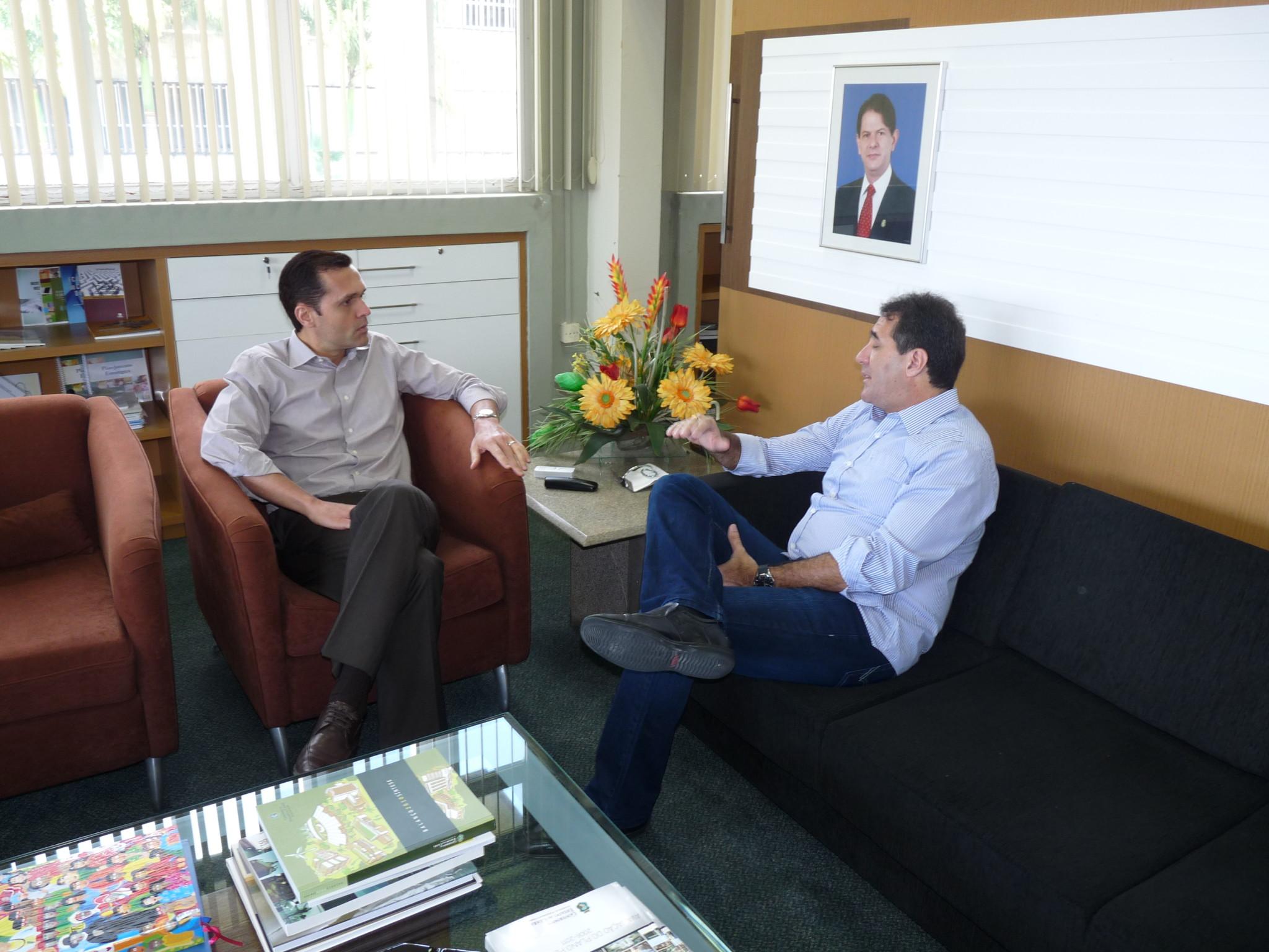 Presidente da Fecomercio faz visita a Seplag
