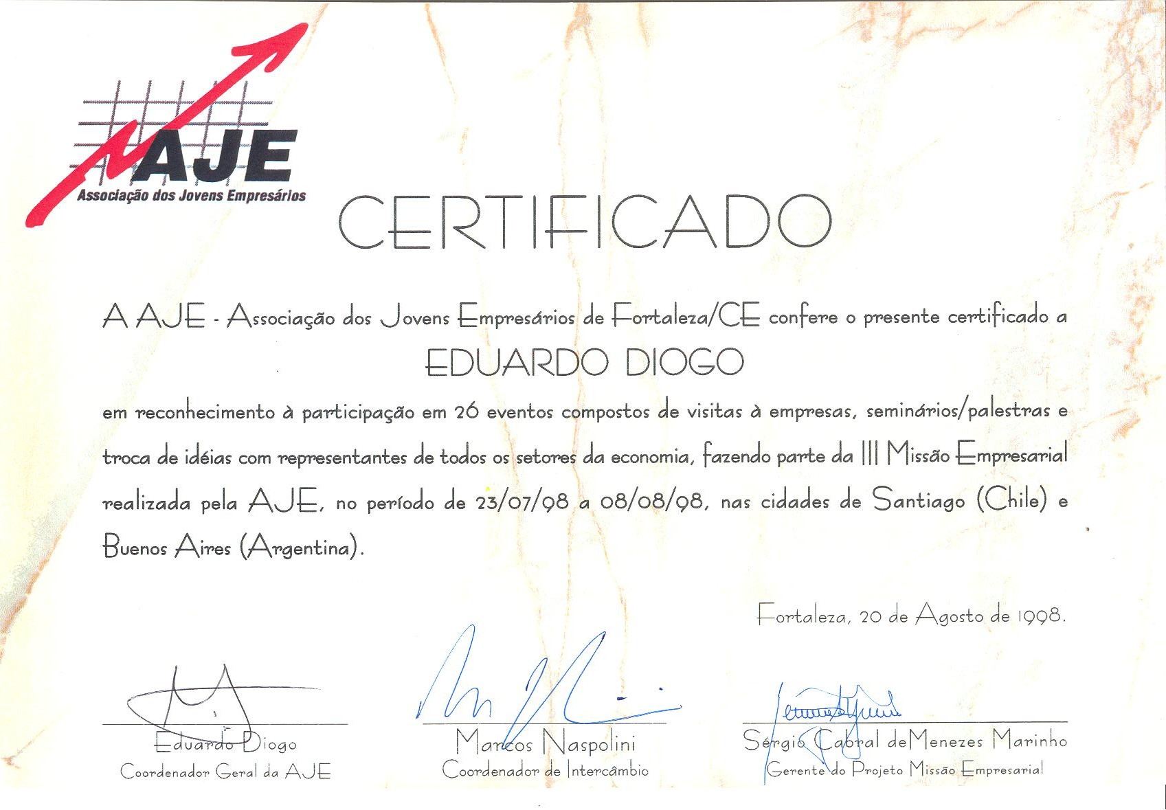 Certificados de Participação de 1998