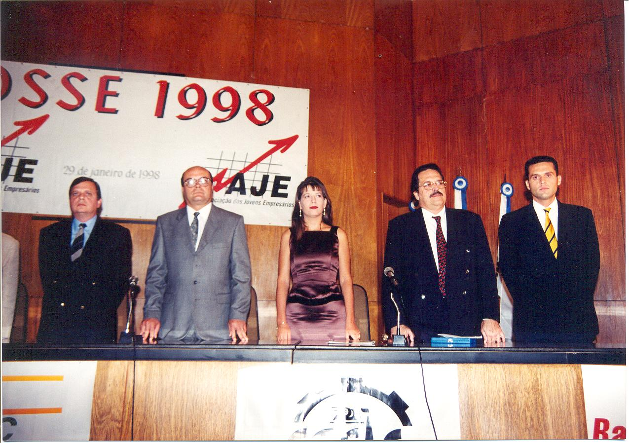 Posse de Eduardo Diogo para a nova Gestão da AJE Fortaleza 1998