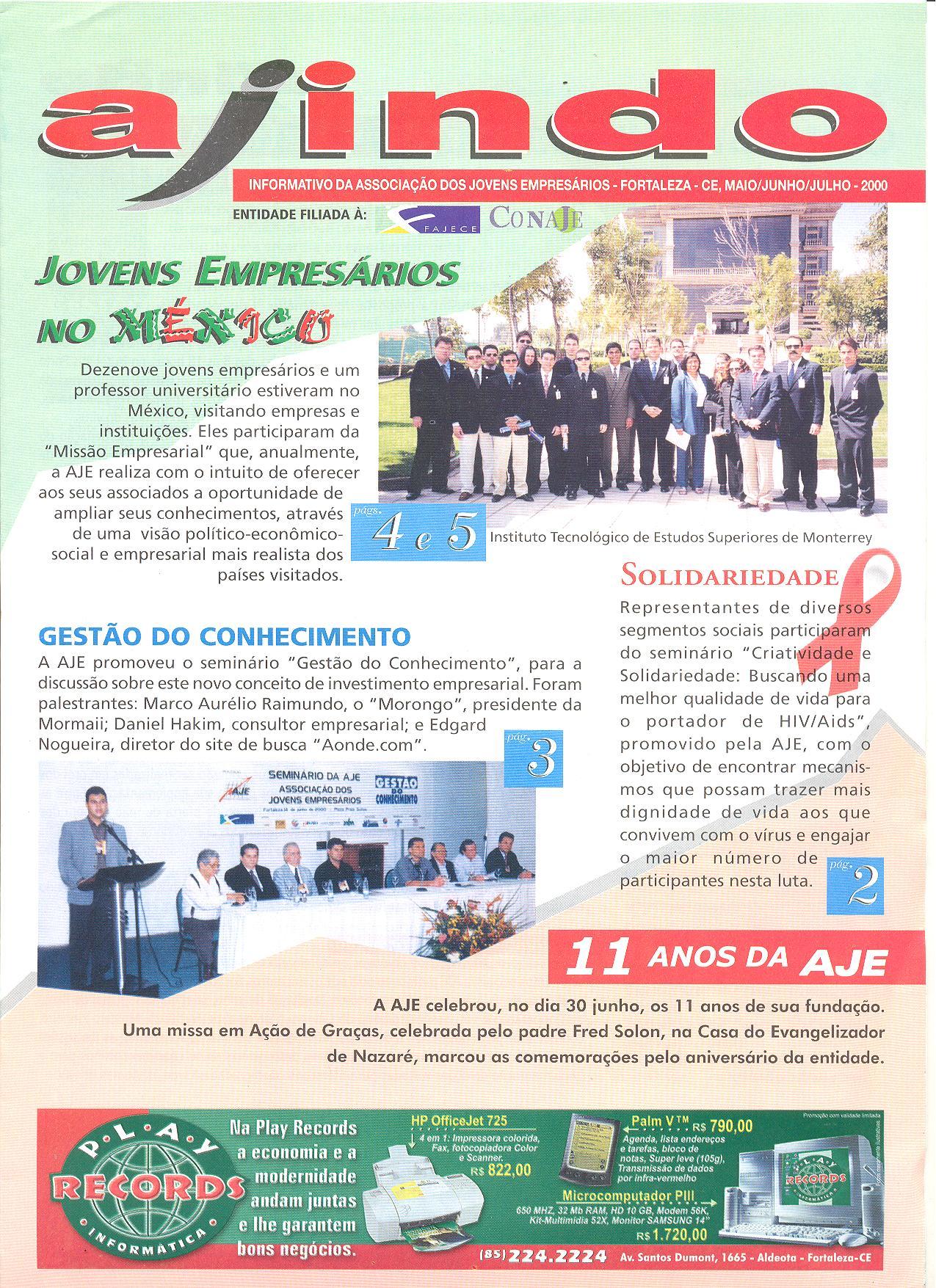 Informativo AJINDO de Maio a Julho da Associação dos Jovens Empresários de Fortaleza – AJE Fortaleza