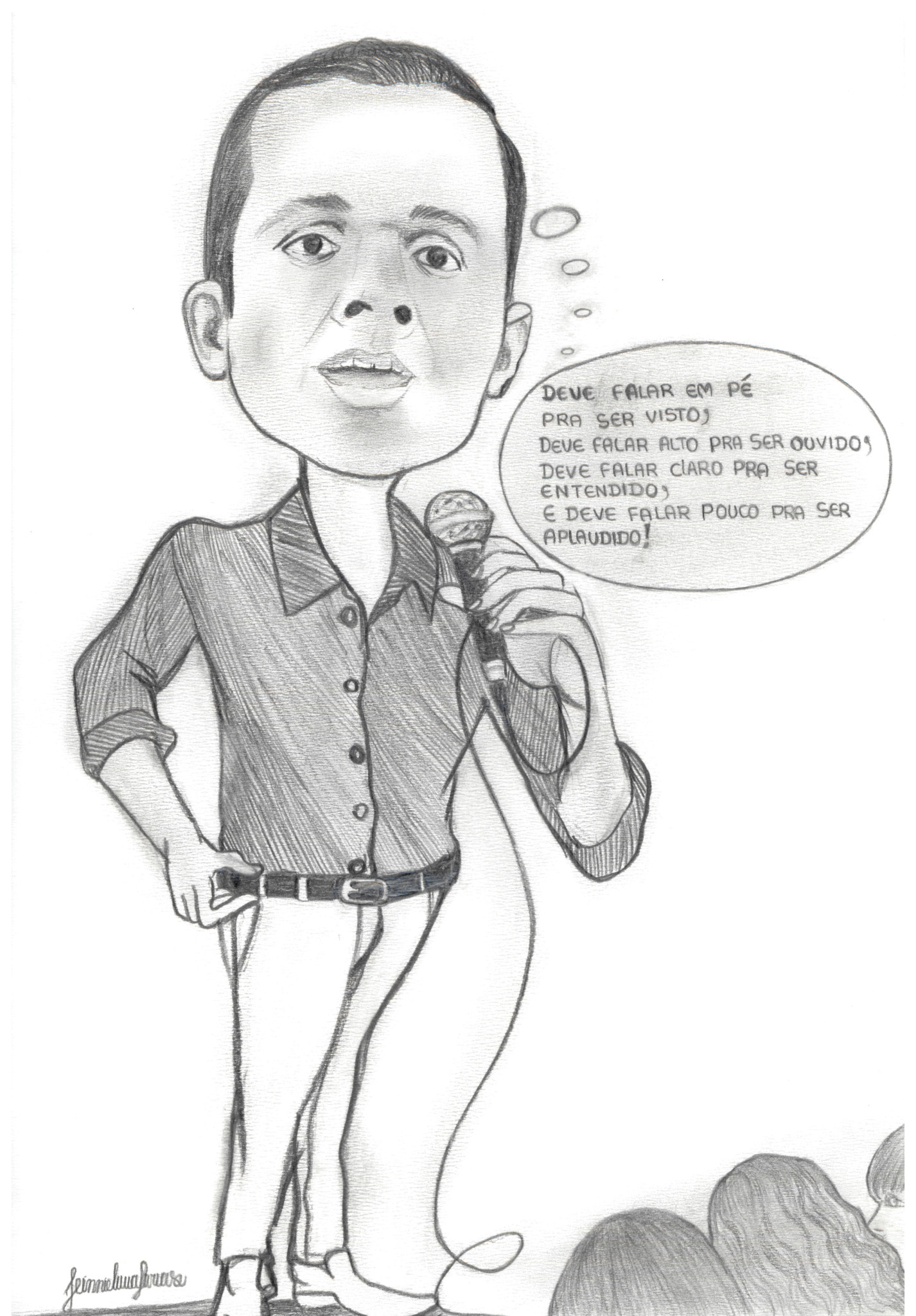Caricatura recebida como homenagem durante o PPA 2011