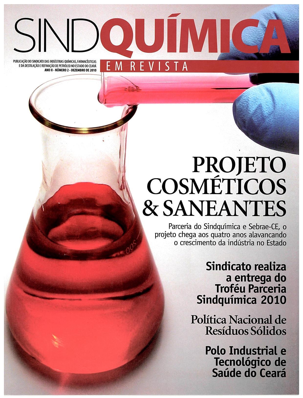 Reportagem na revista SindQuímina sobre homenagem recebida como parceiro no ano em 2010