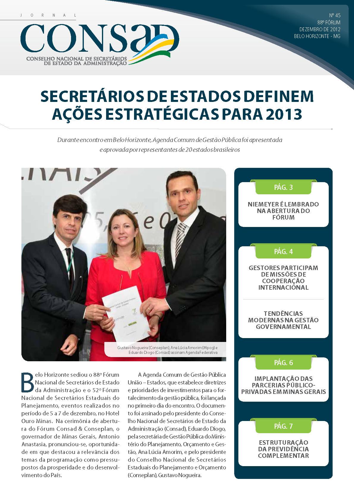 Jornal do Consad Número 45 – Dezembro de 2012