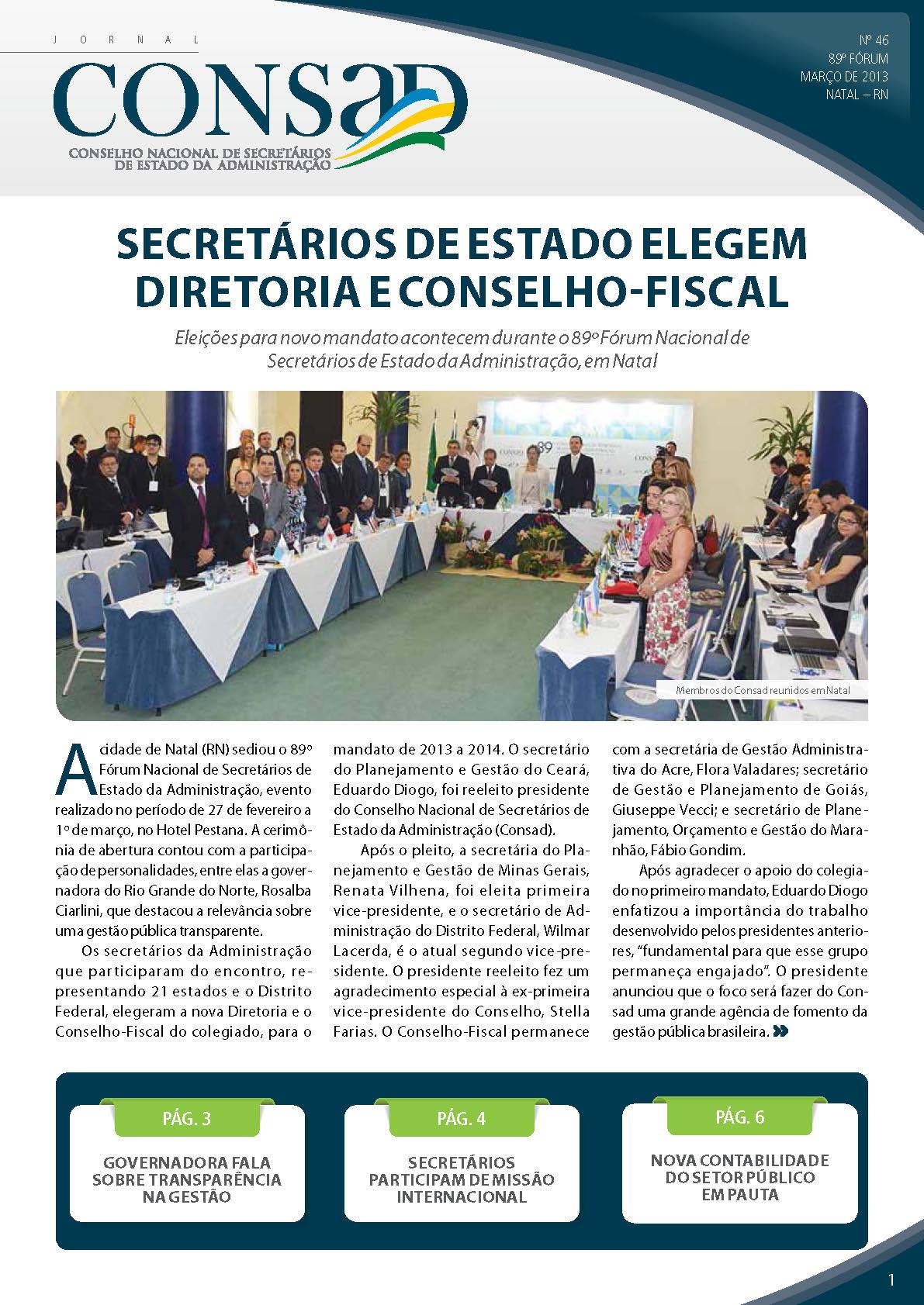 Jornal do Consad Número 46 – Março de 2013