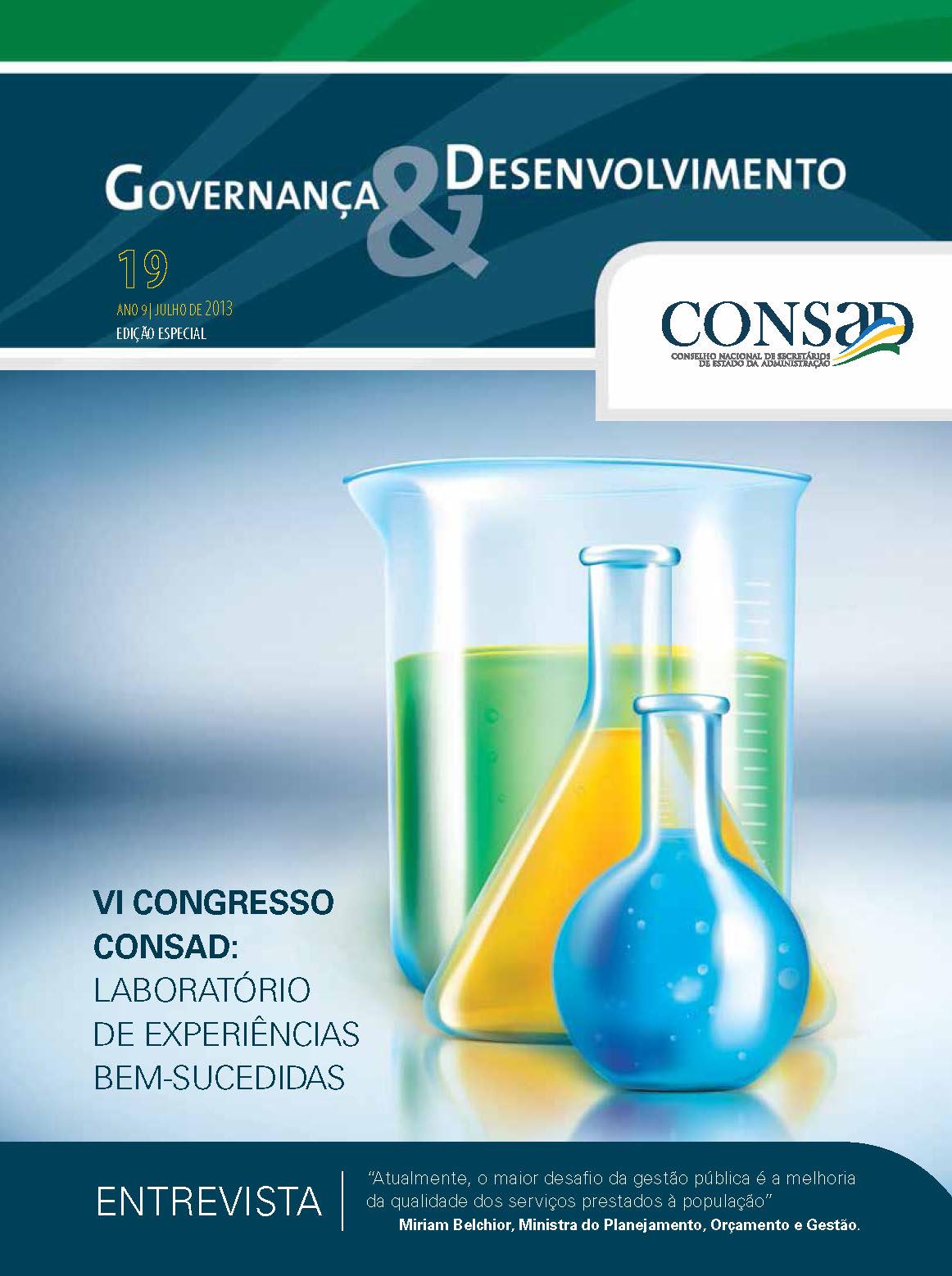 Revista do Consad Número 19 – Julho de 2013