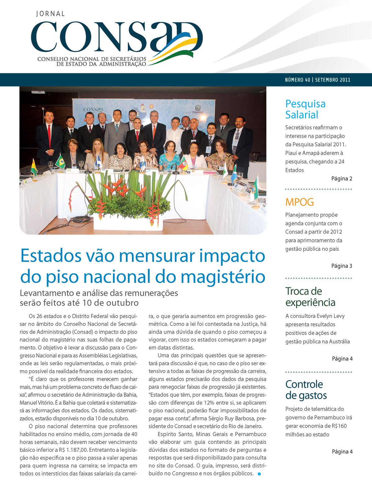 Jornal do Consad Número 40 – Setembro de 2011