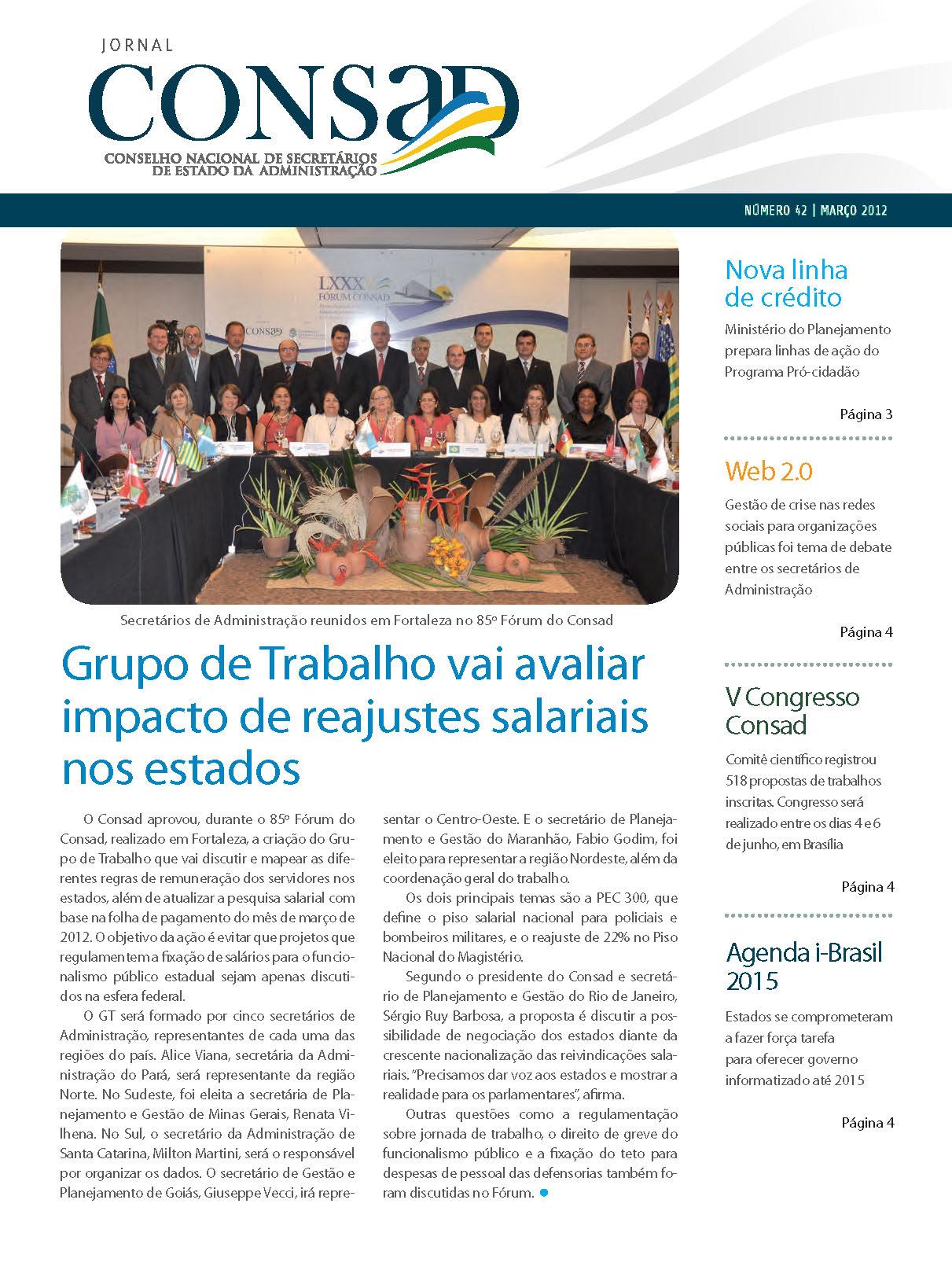 Jornal do Consad Número 42 – Março de 2012