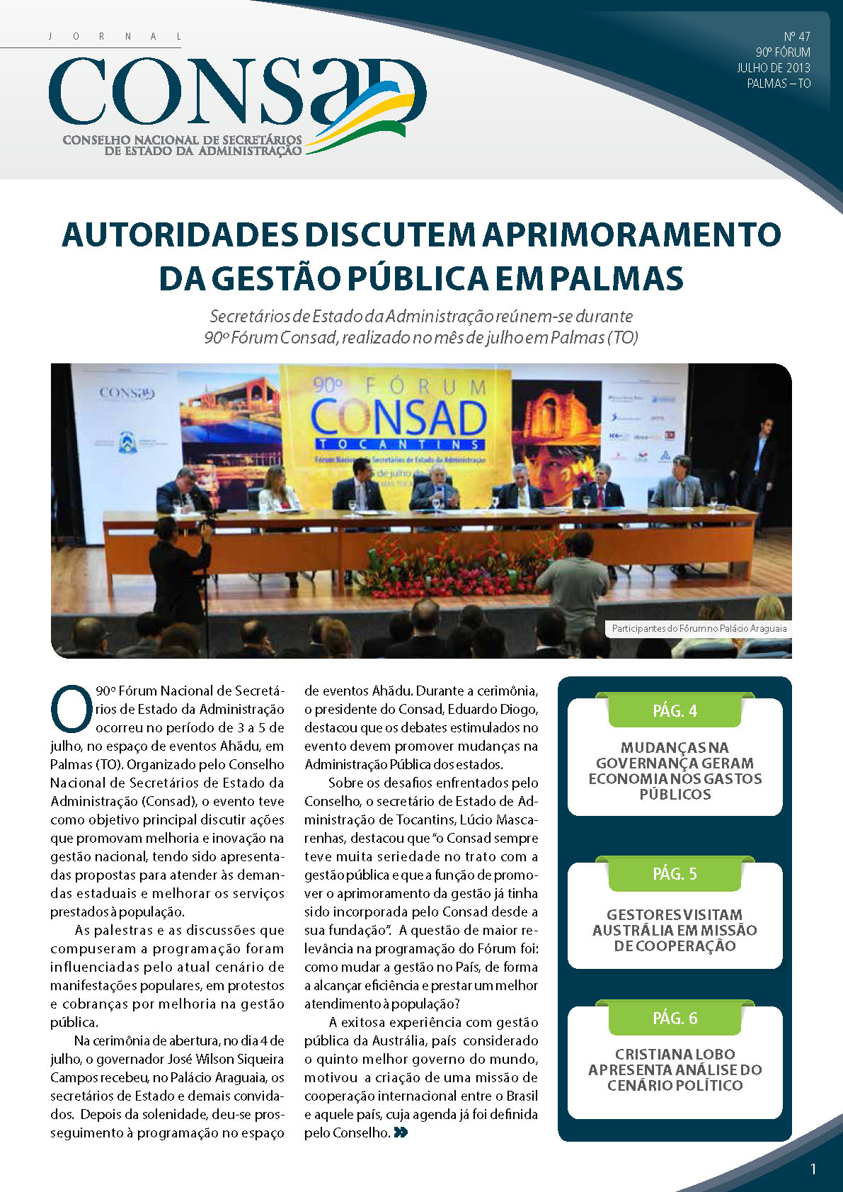 Jornal do Consad Número 47 – Julho de 2013