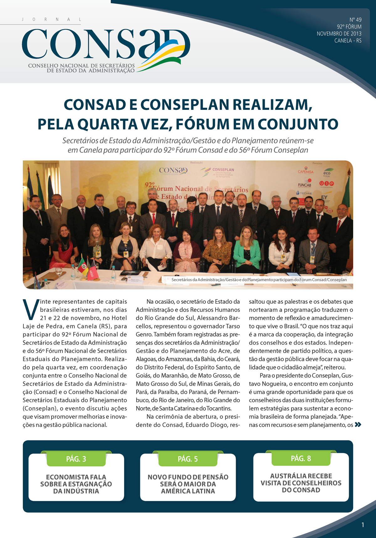 Jornal do Consad Número 49 – Novembro de 2013