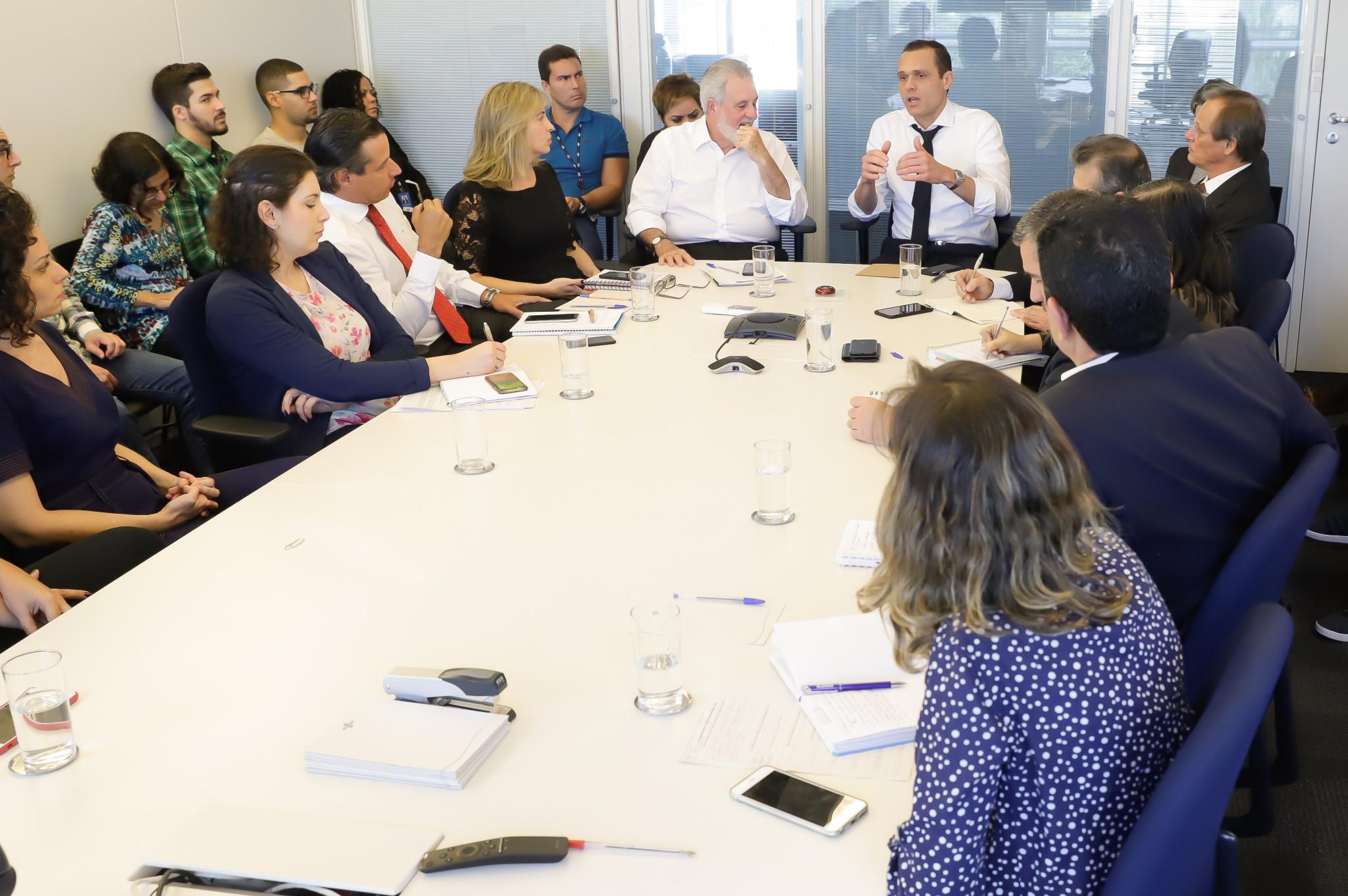 Reunião com o Presidente Melles e toda a equipe de Comunicação do Sebrae