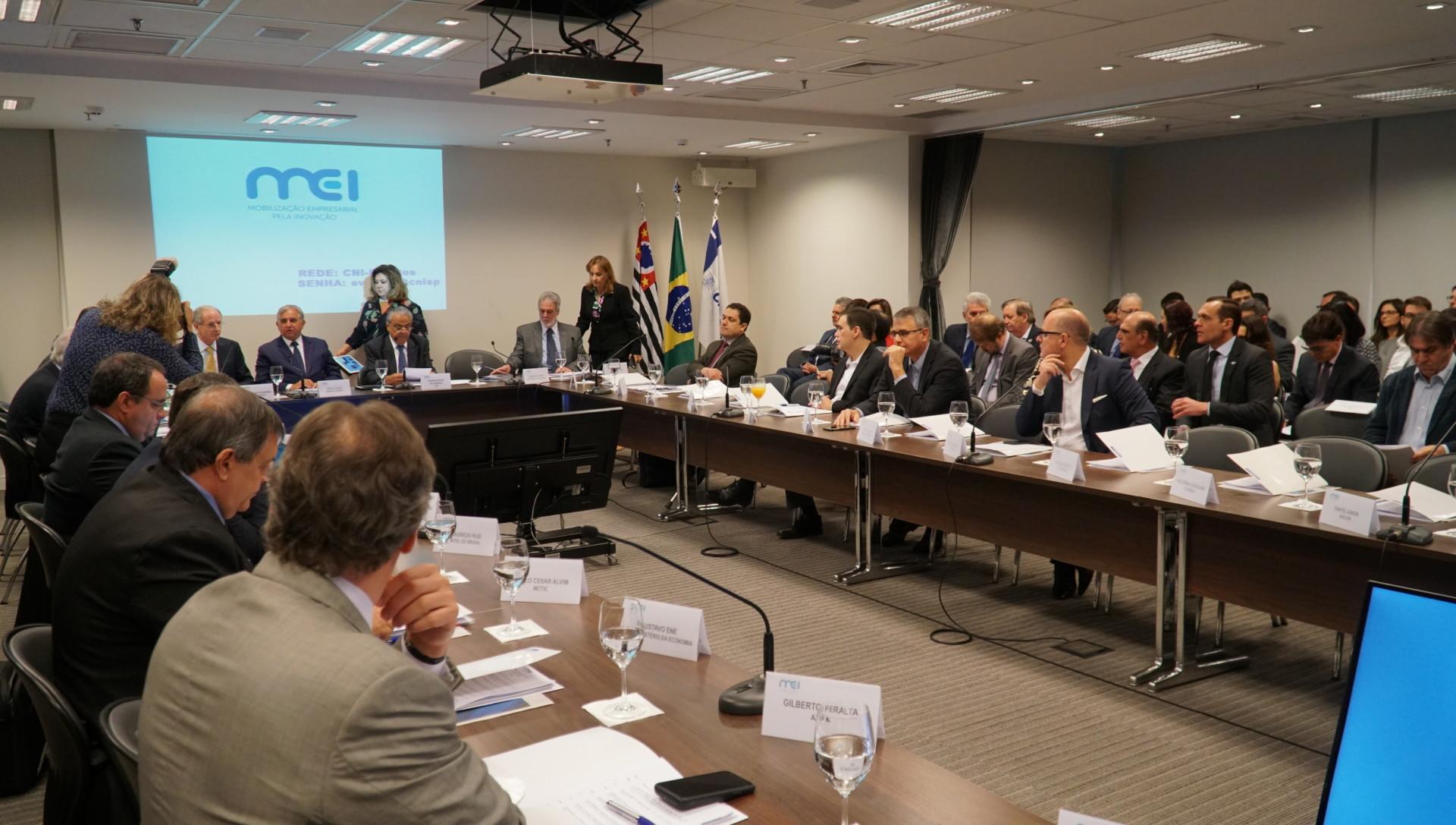 Reunião da Mobilização Empresarial pela Inovação (MEI) na FIESP