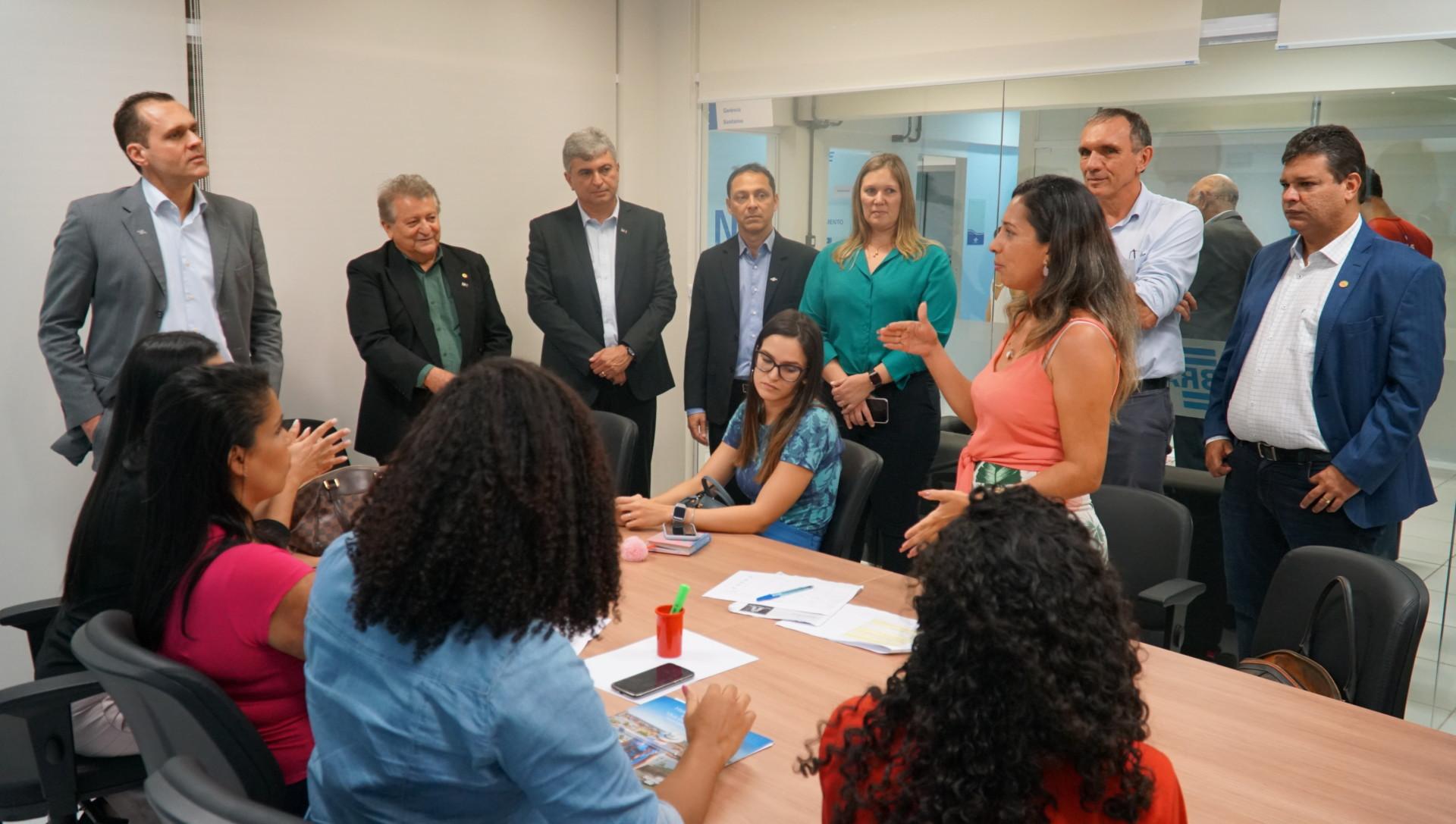 Interação com clientes do Sebrae em visita à Unidade Regional de São Luís