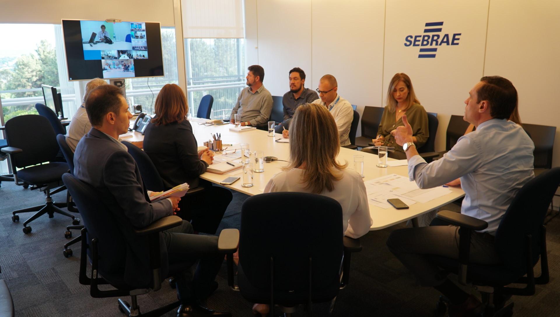 Videoconferência sobre o Centro de Serviços Compartilhados