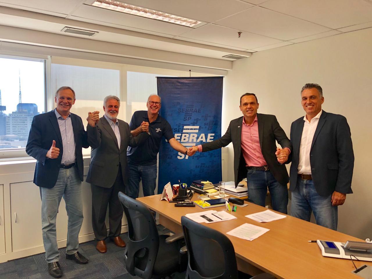 Diretoria unida em São Paulo para a reunião de aquecimento para a Feira do Empreendedor 2019