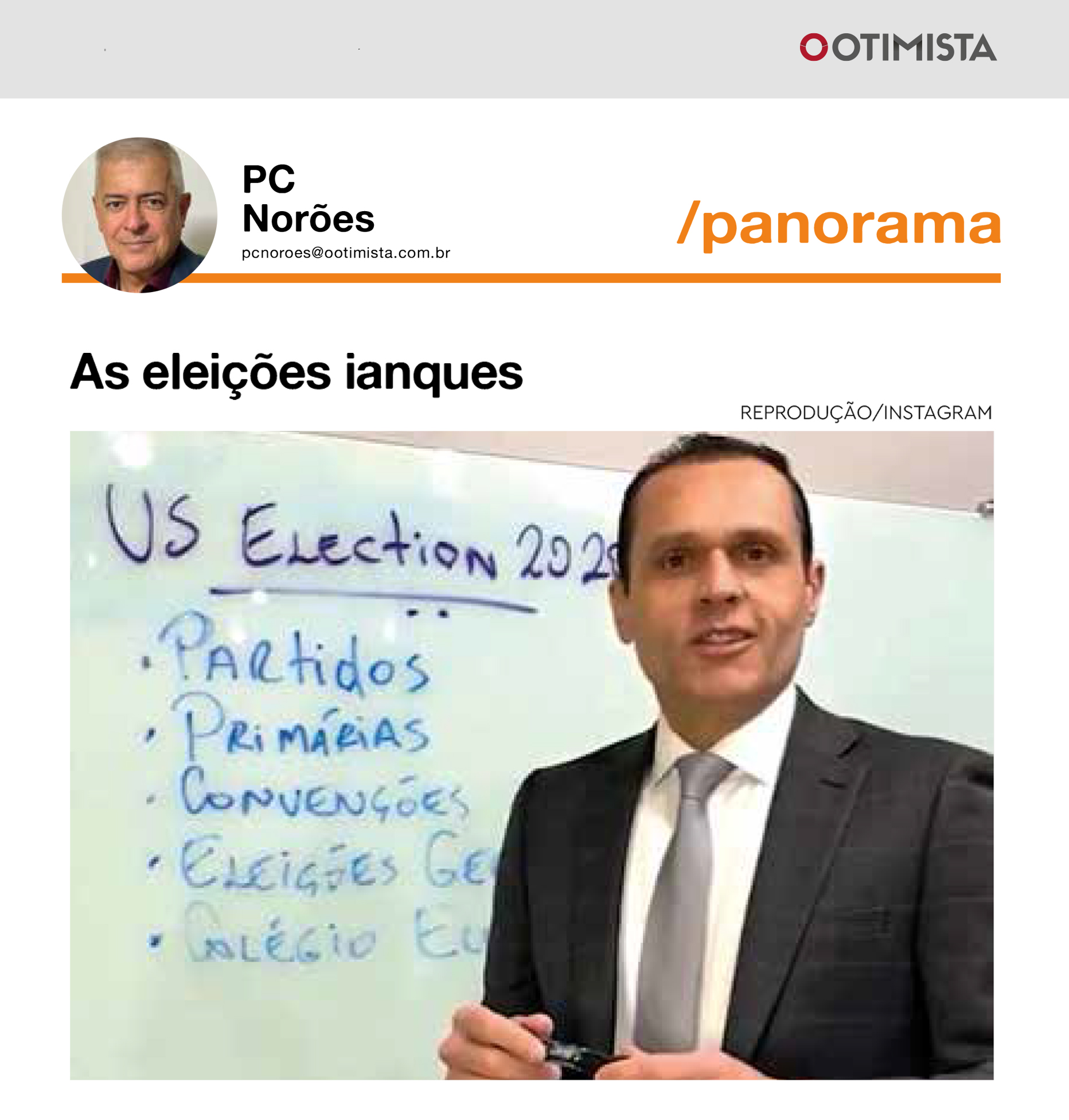 Reportagem no Jornal O Otimista