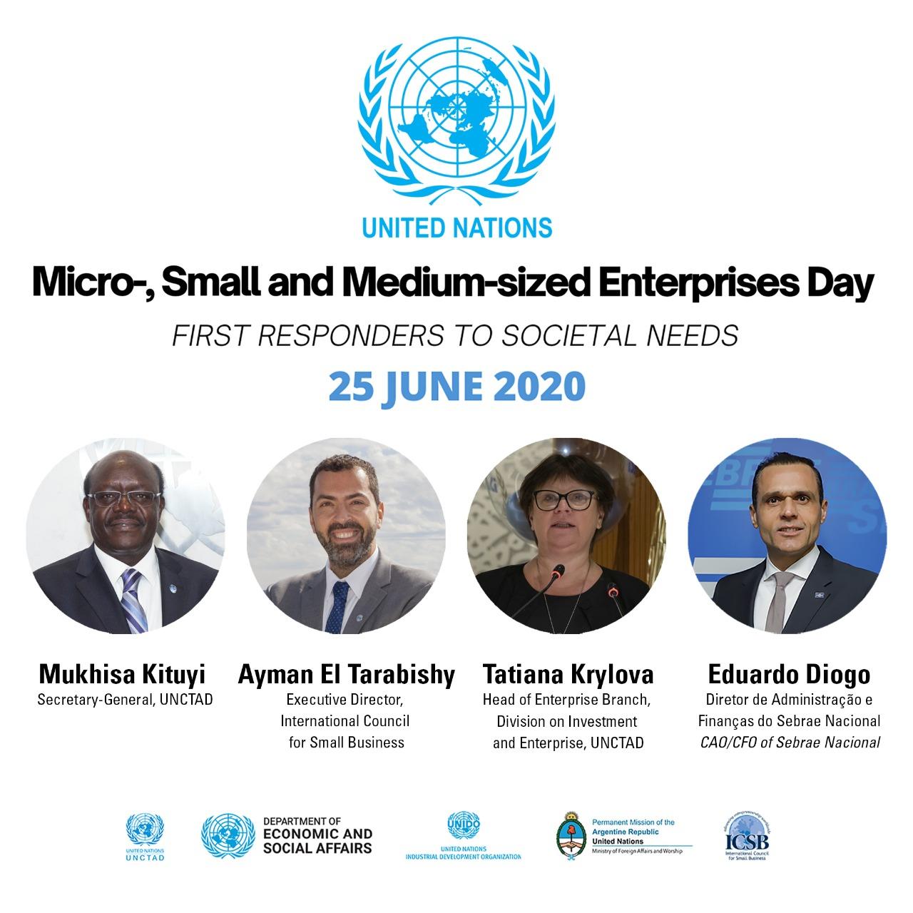 Sebrae participa das comemorações do Dia das Micro, Pequenas e Médias Empresas instituído pela ONU